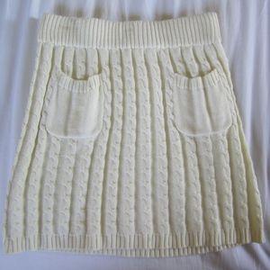 Cream Sweater Skirt